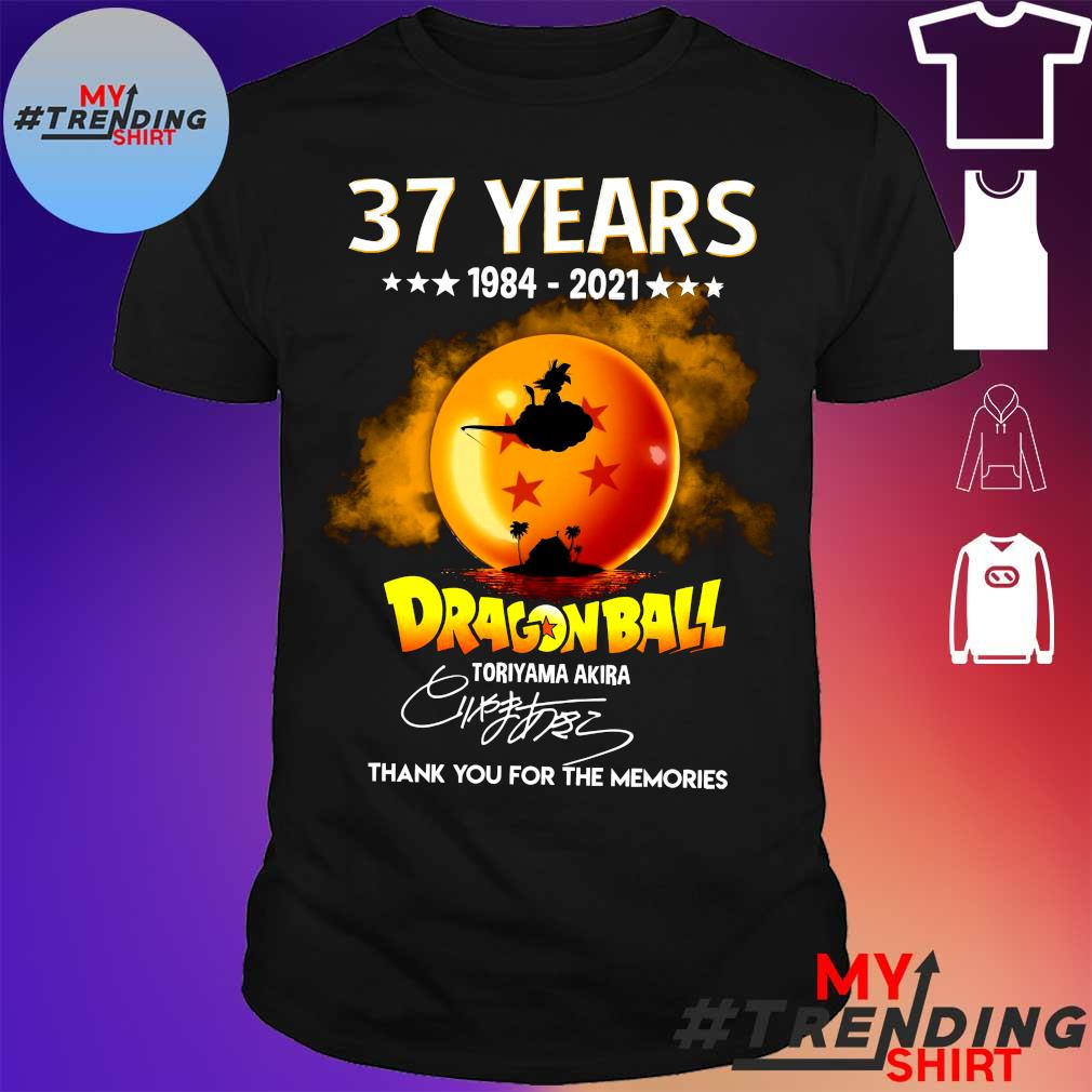 37 Years 1984 2021 Dragon Ball thank you for the memories shirt