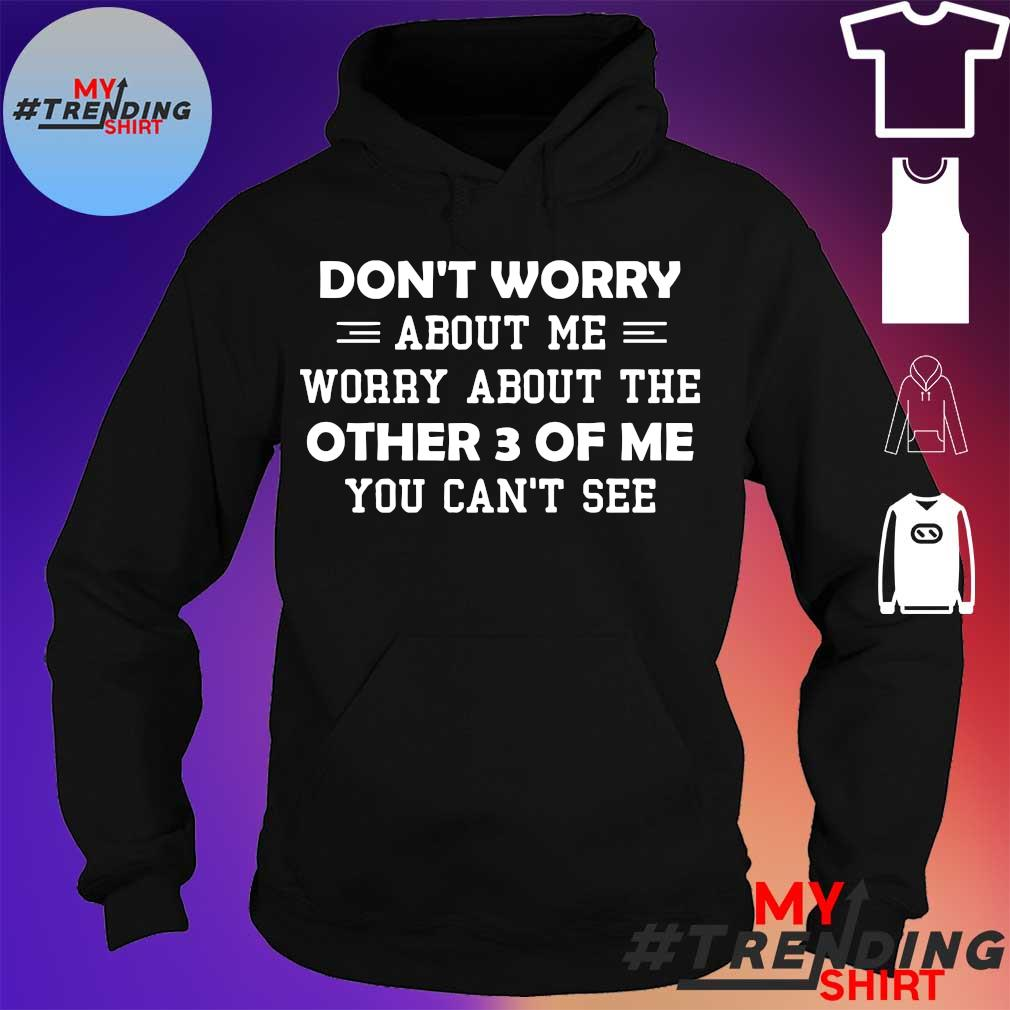 Don't worry about me worry about the other 3 of me you can't see hoodie
