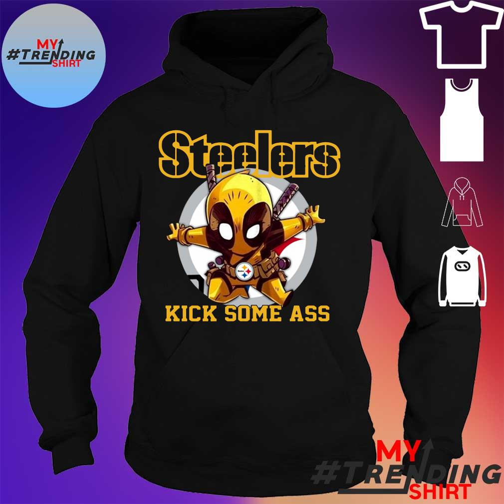 Deadpool Pittsburgh Steelers kick some ass hoodie