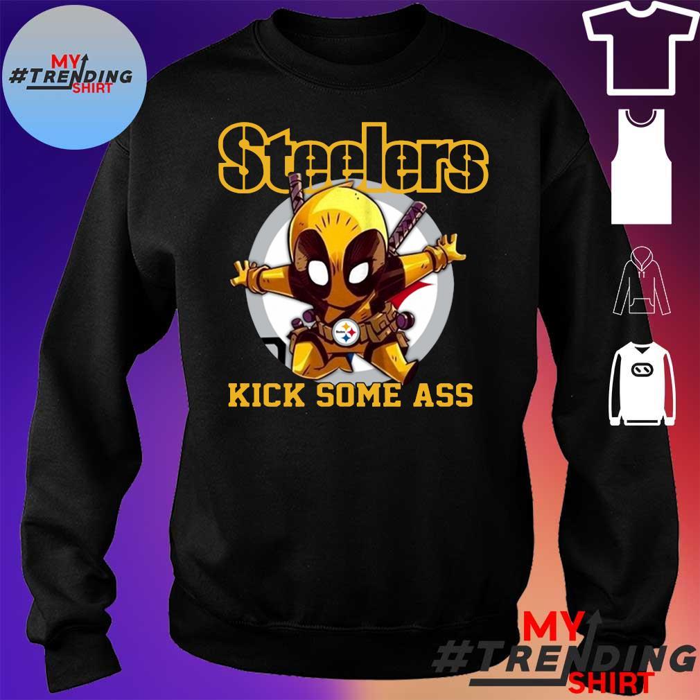 Deadpool Pittsburgh Steelers kick some ass sweater