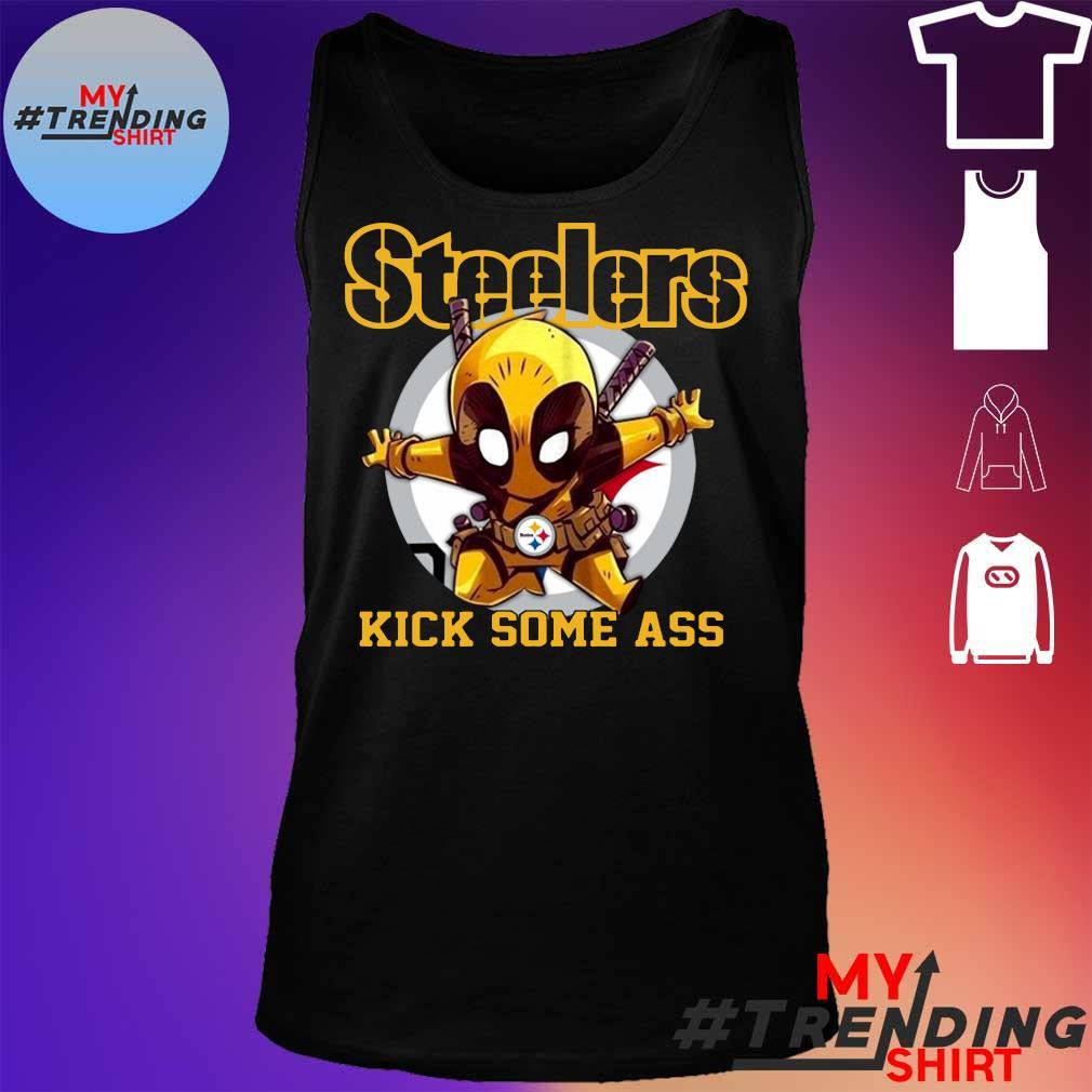 Deadpool Pittsburgh Steelers kick some ass tank top