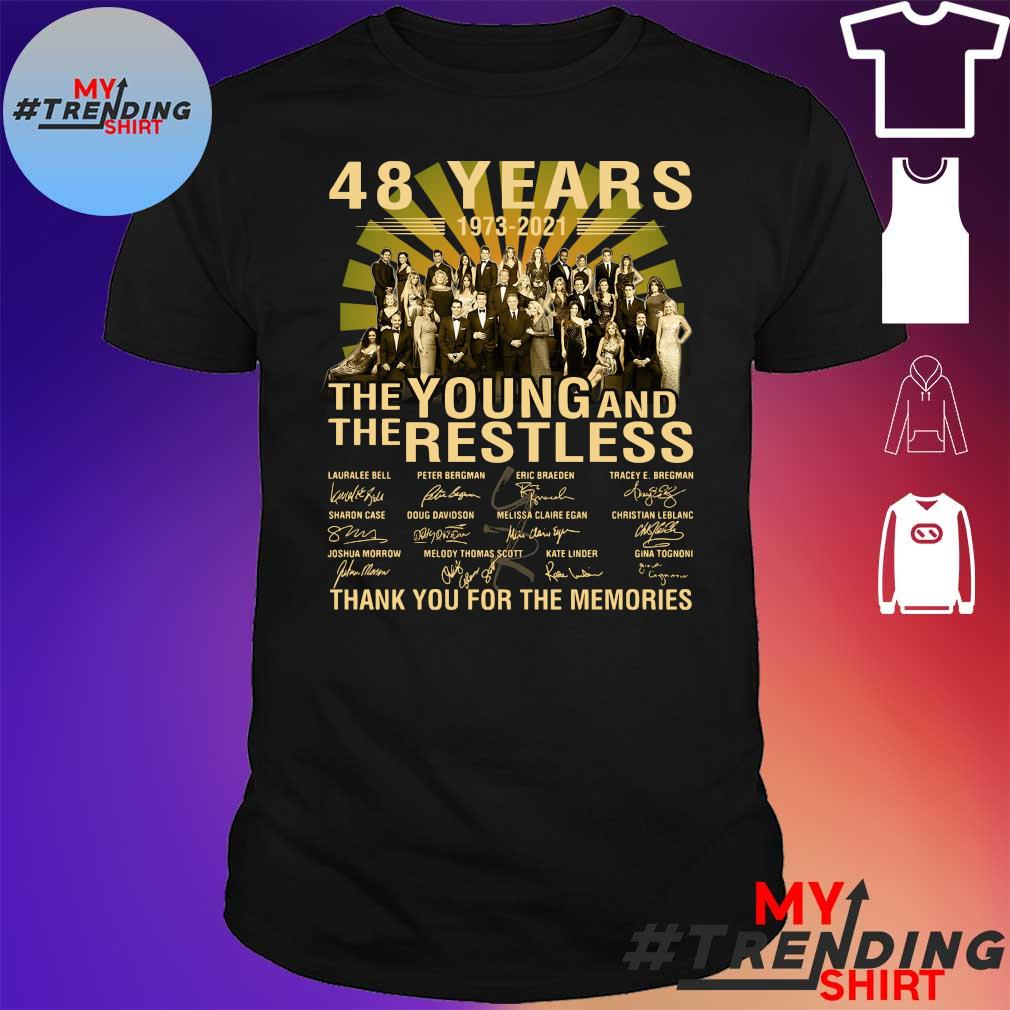 48 Years 1973 2021 The Young And The Restless thank you for the memories shirt