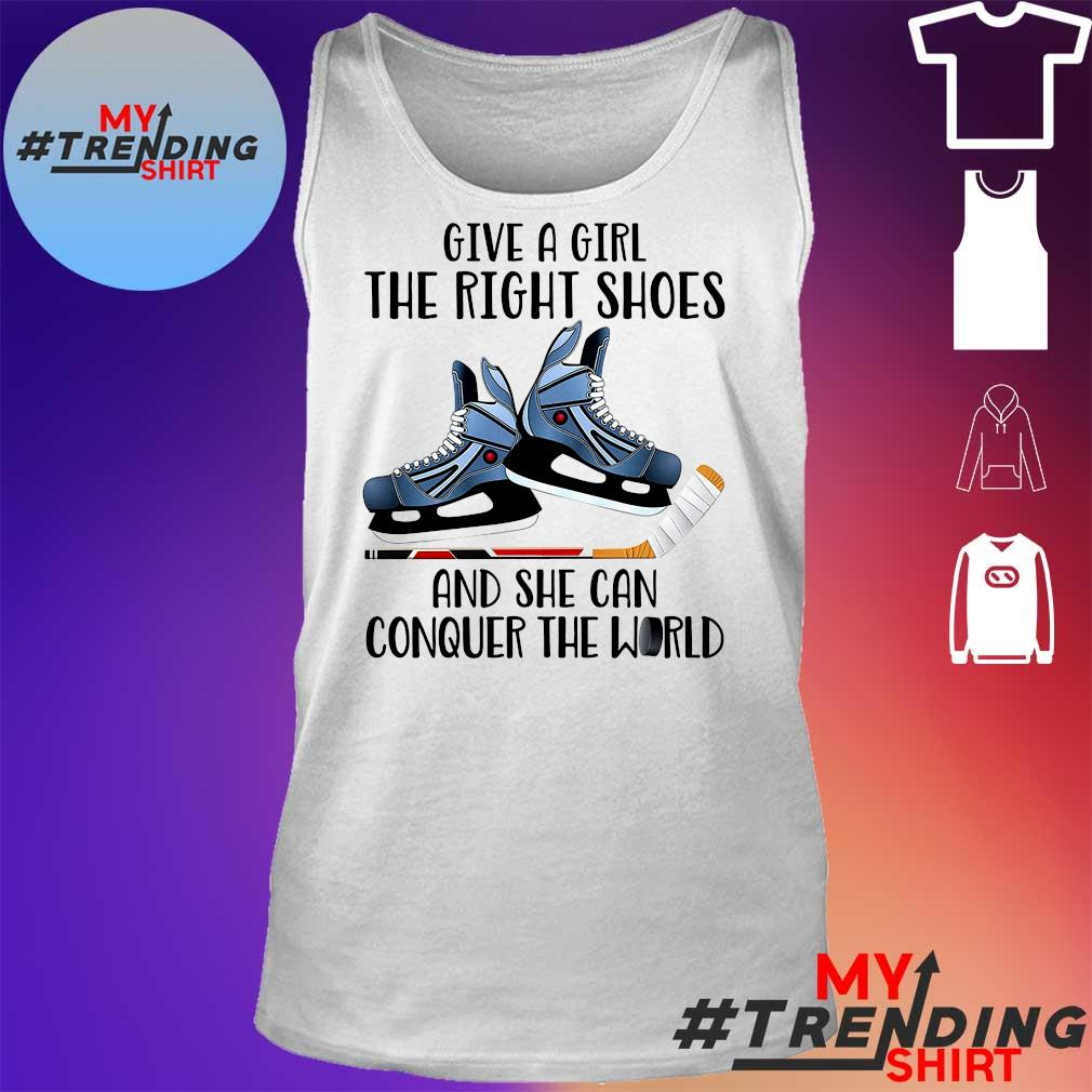 Give a Girl the right shoes and she can conquer the World tank top