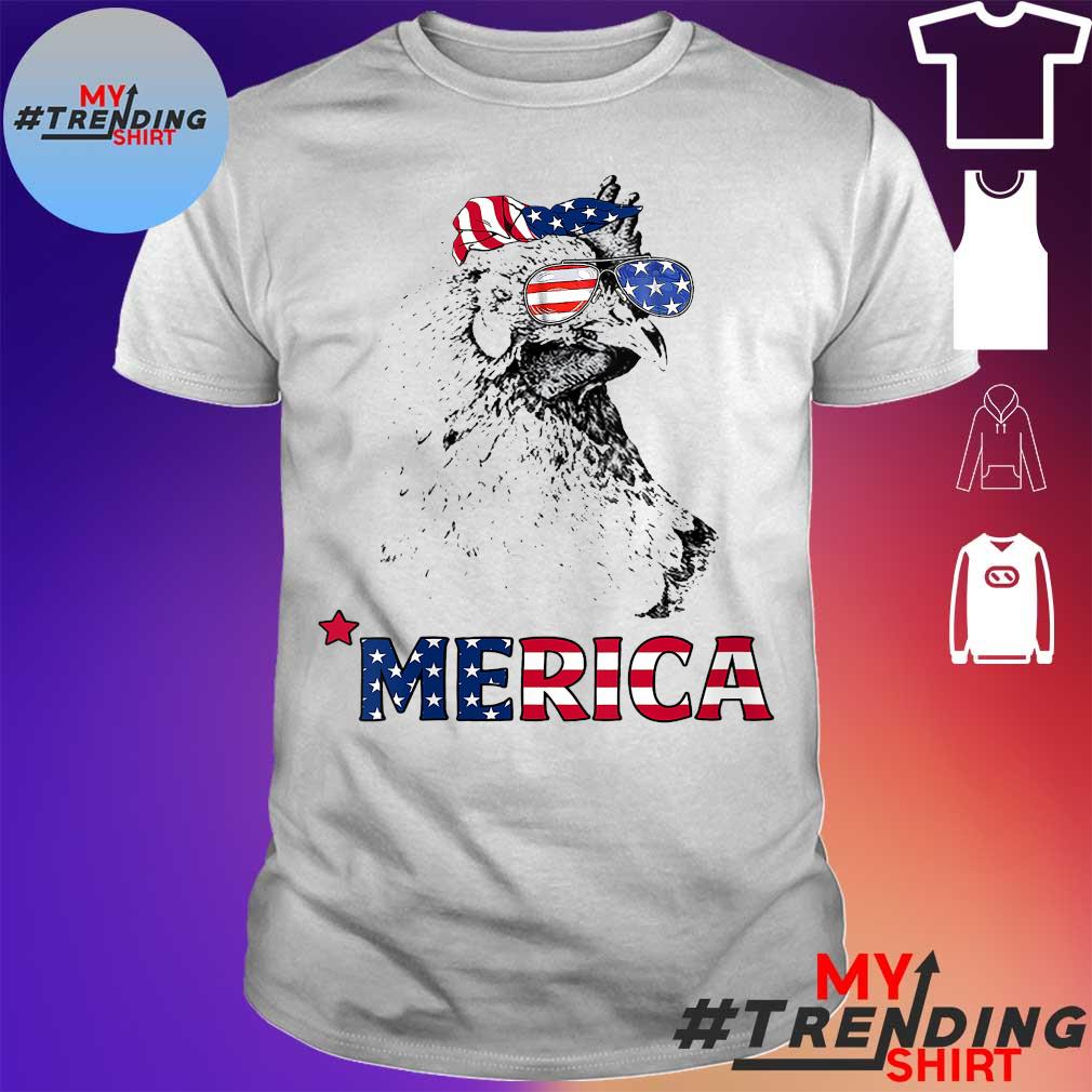 Chickend Merica America flag 4th of july shirt