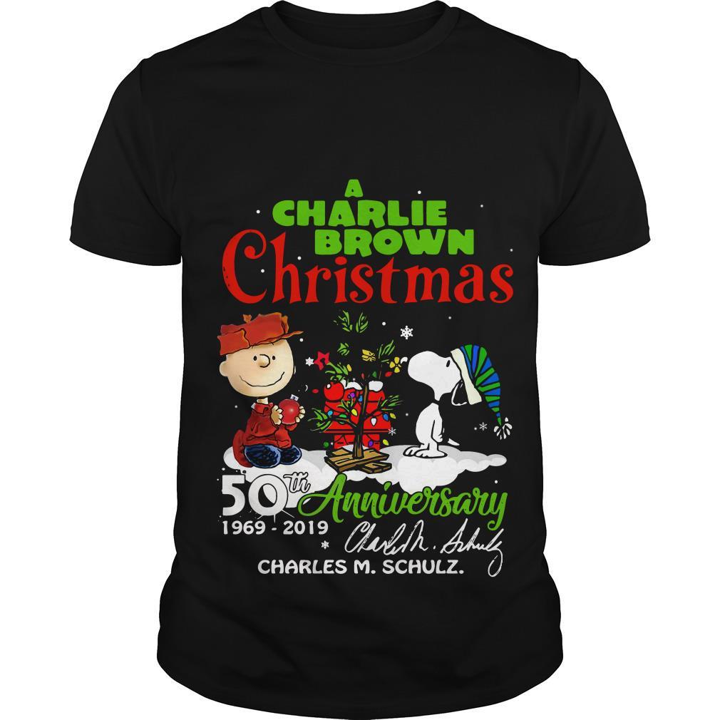 Charlie Brown Christmas Air Date 2019.A Charlie Brown Christmas 50th Anniversary 1969 2019 Signature Shirt
