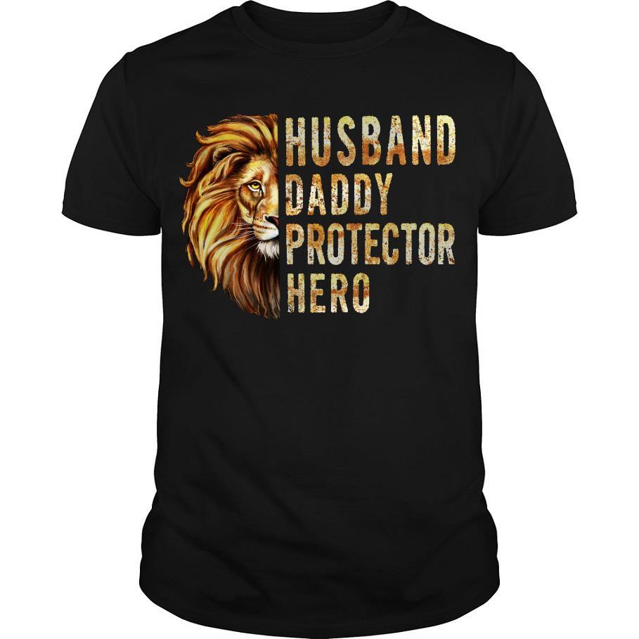 Lion Husband Daddy Protector hero shirt