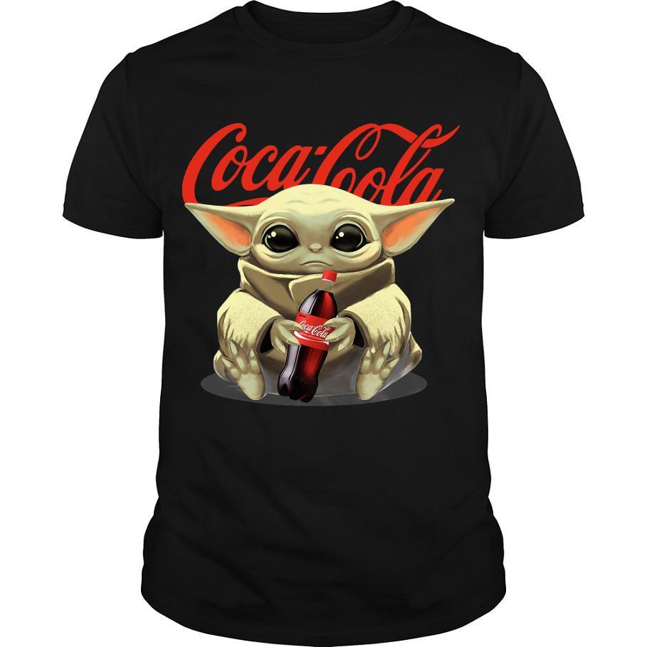 Baby Yoda hug Cocacola shirt