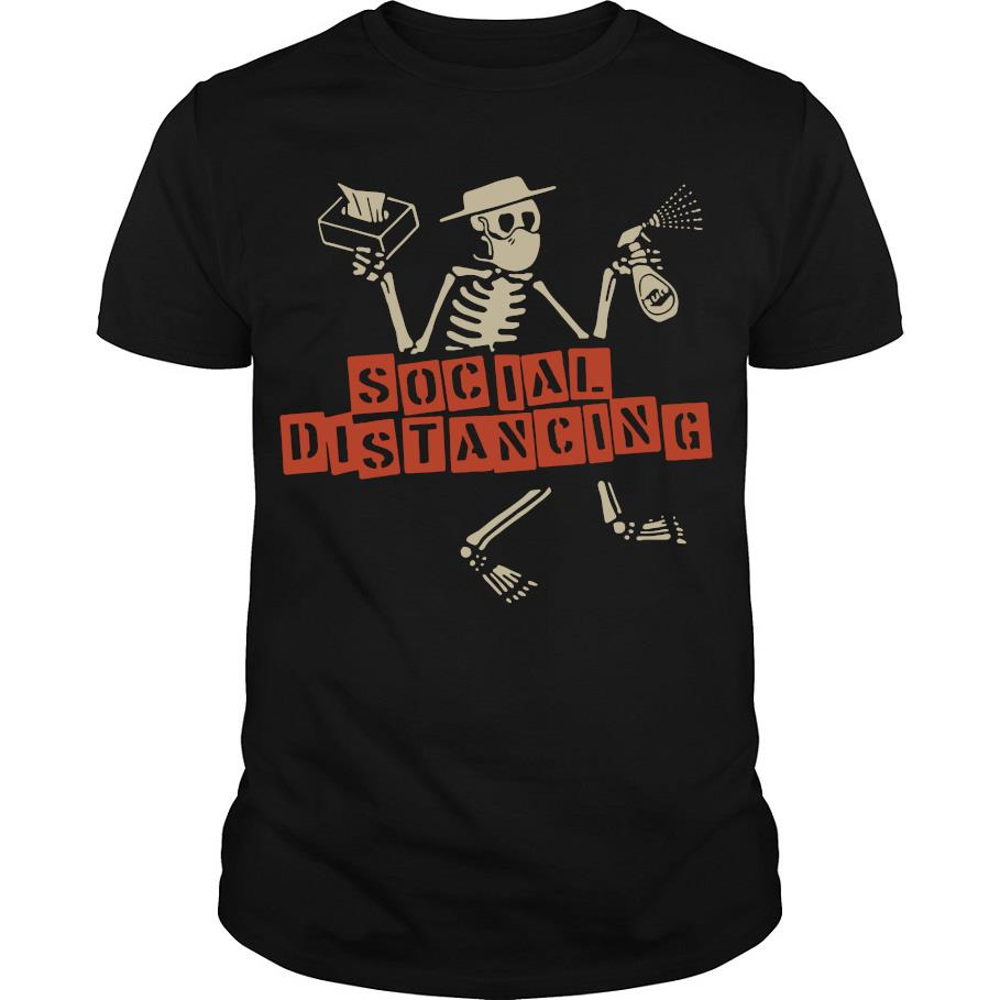 Coronavirus Skeleton social distancing shirt