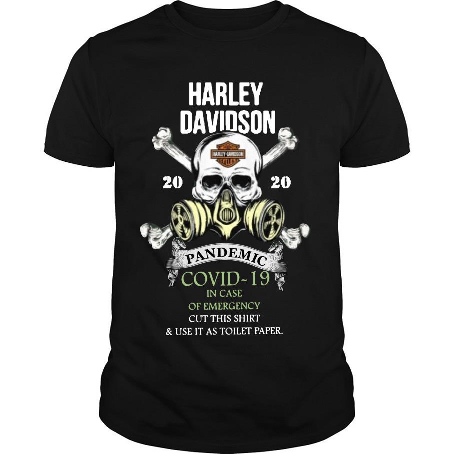 Harley Davidson 2020 pandemic covid-19 shirt