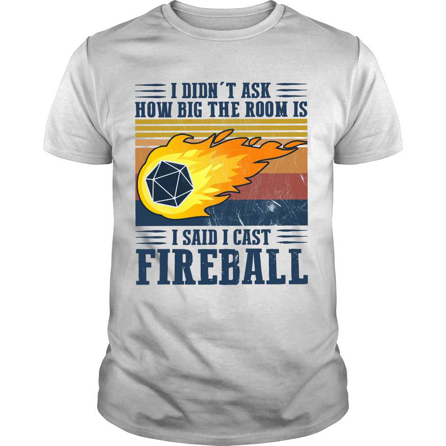 I didn_t ask how big the room is i said i cast fireball shirt