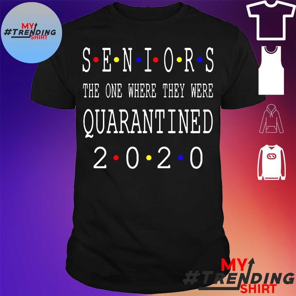 Senior 2020 Shit Getting Real – Class Of 2020 Graduation Senior Funny Quarantine T Shirts