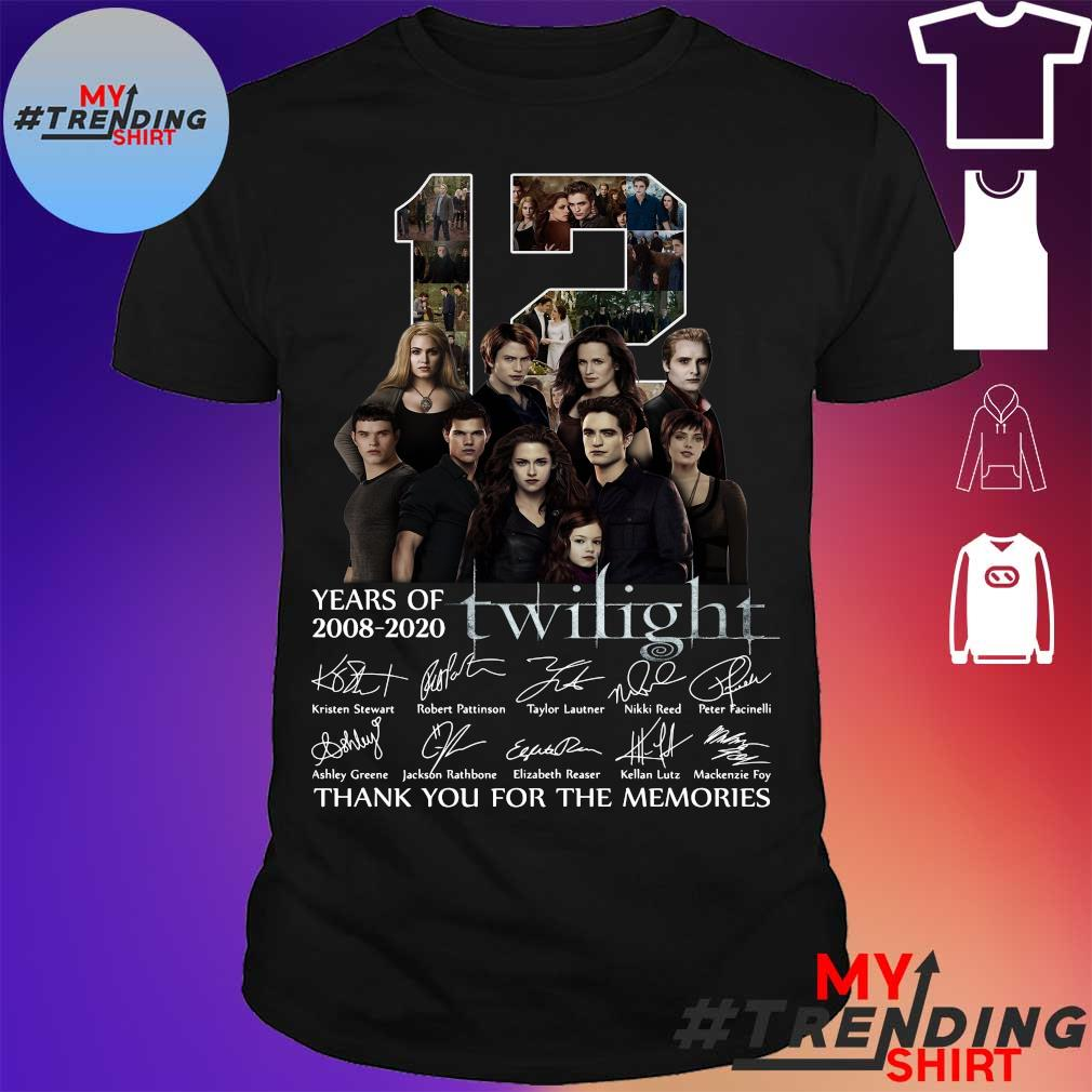 12 years of 2008 2020 Twilight thank You for the memories signatures shirt