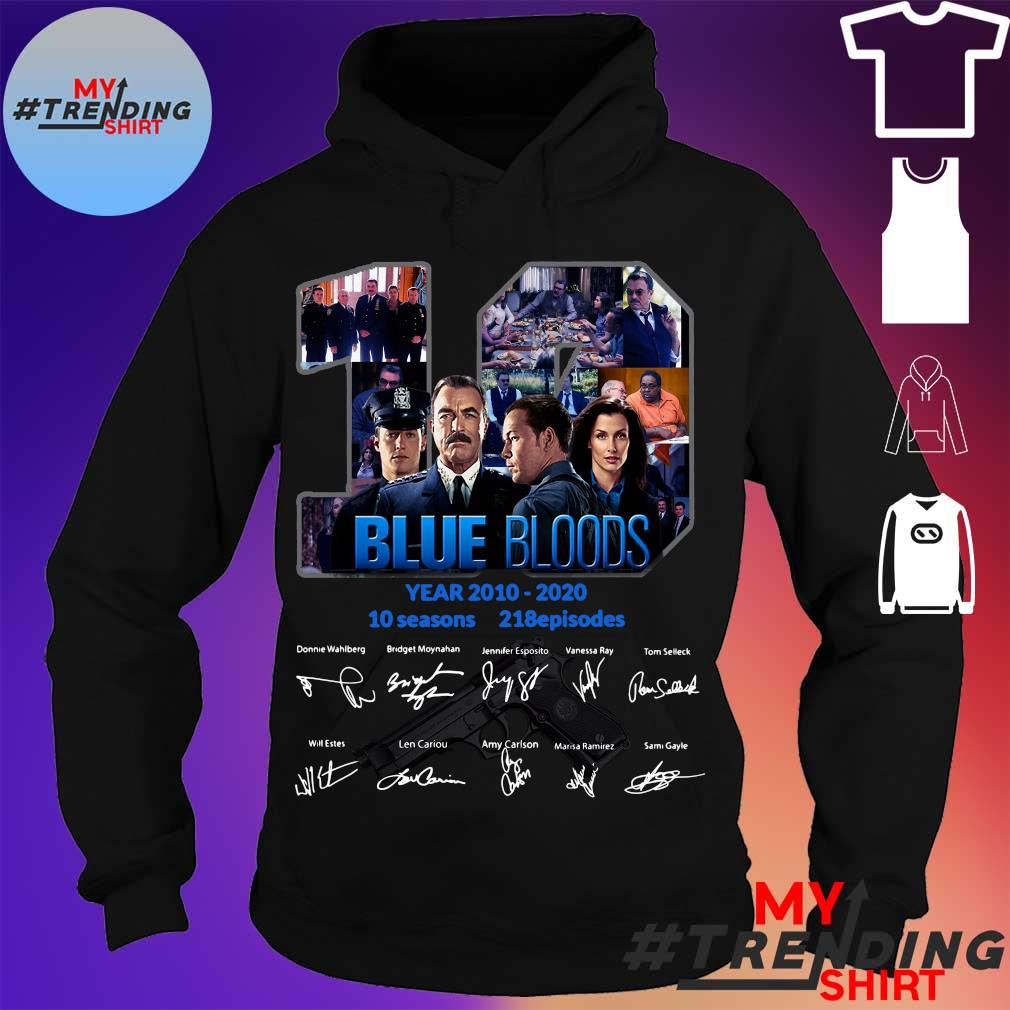 19 year 2010 2020 Blue Bloods 10 seasons 218 episodes signature s hoodie