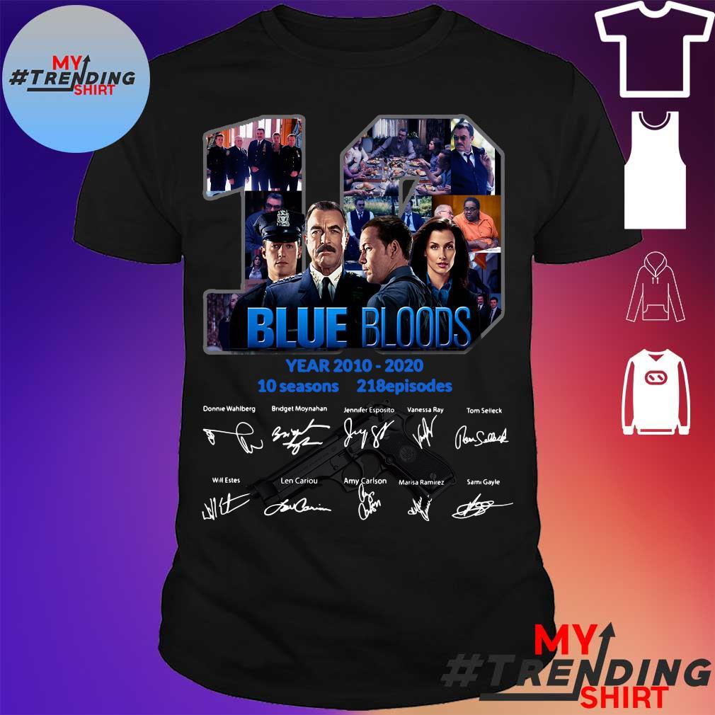 19 year 2010 2020 Blue Bloods 10 seasons 218 episodes signature shirt