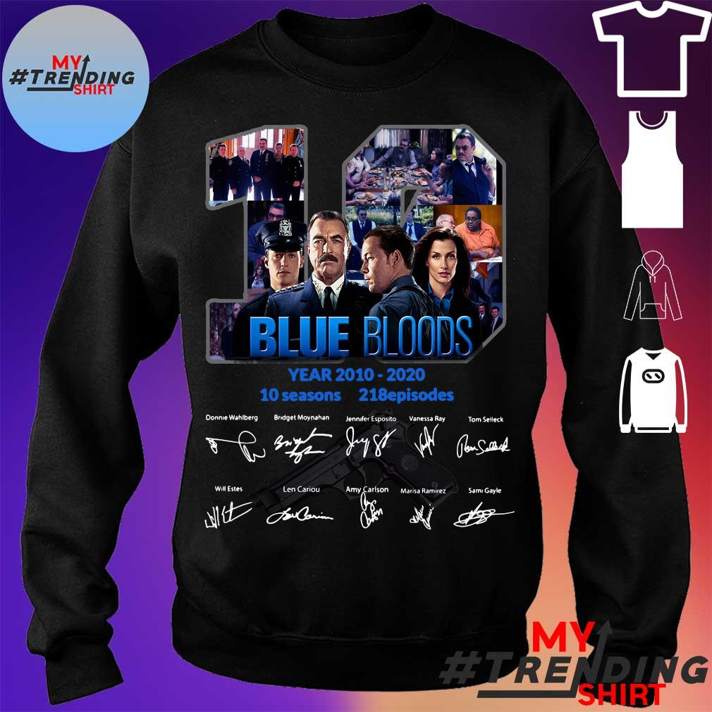 19 year 2010 2020 Blue Bloods 10 seasons 218 episodes signature s sweater