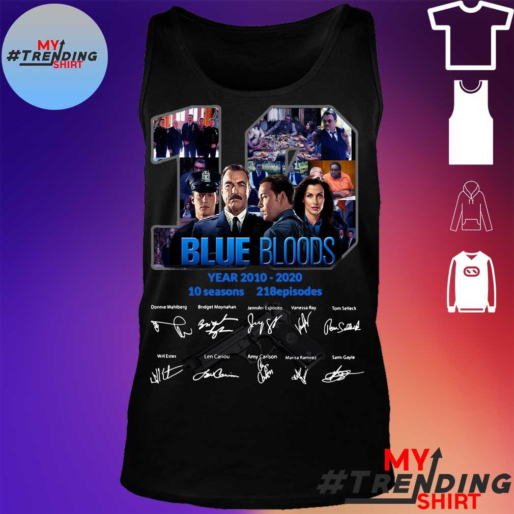 19 year 2010 2020 Blue Bloods 10 seasons 218 episodes signature s tank top