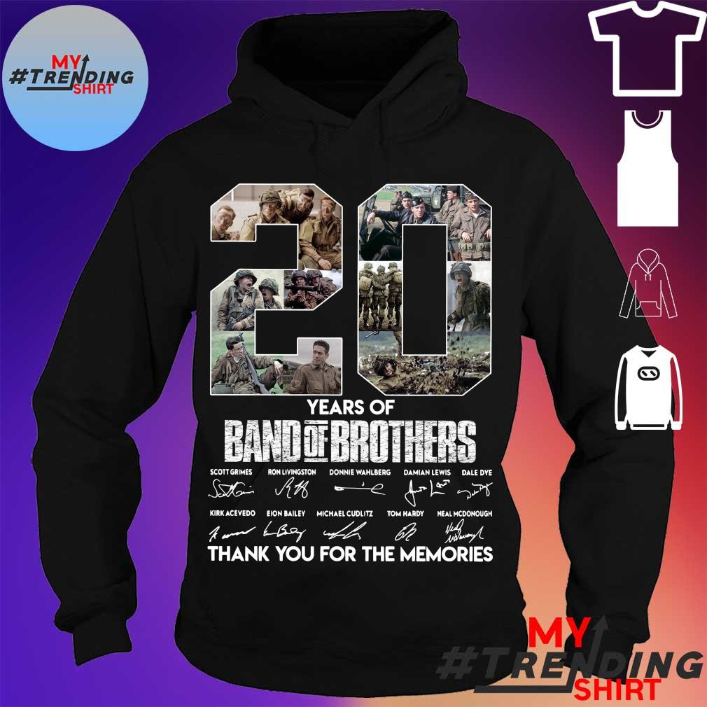 20 years of Band Of Brothers thank You for the memories signatures s hoodie