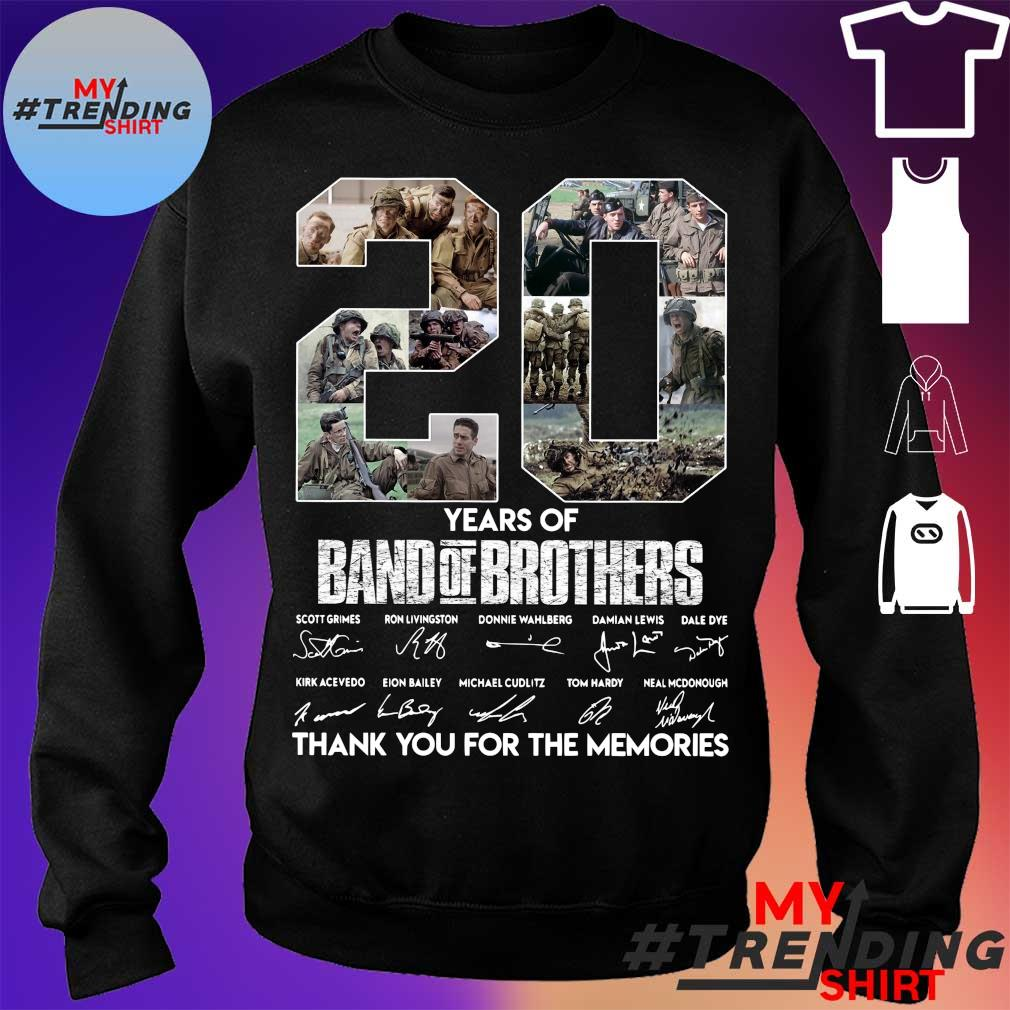 20 years of Band Of Brothers thank You for the memories signatures s sweater