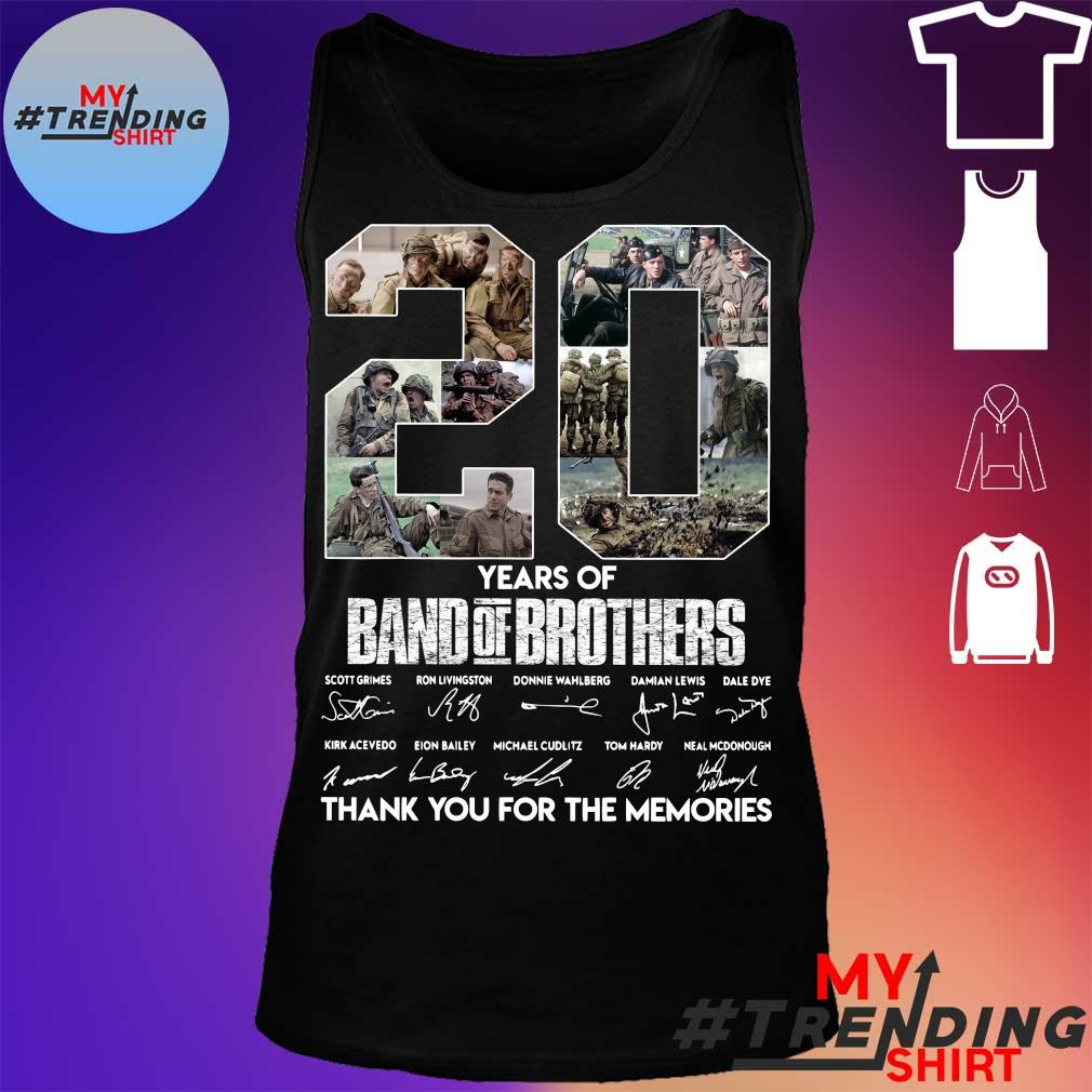 20 years of Band Of Brothers thank You for the memories signatures s tank top