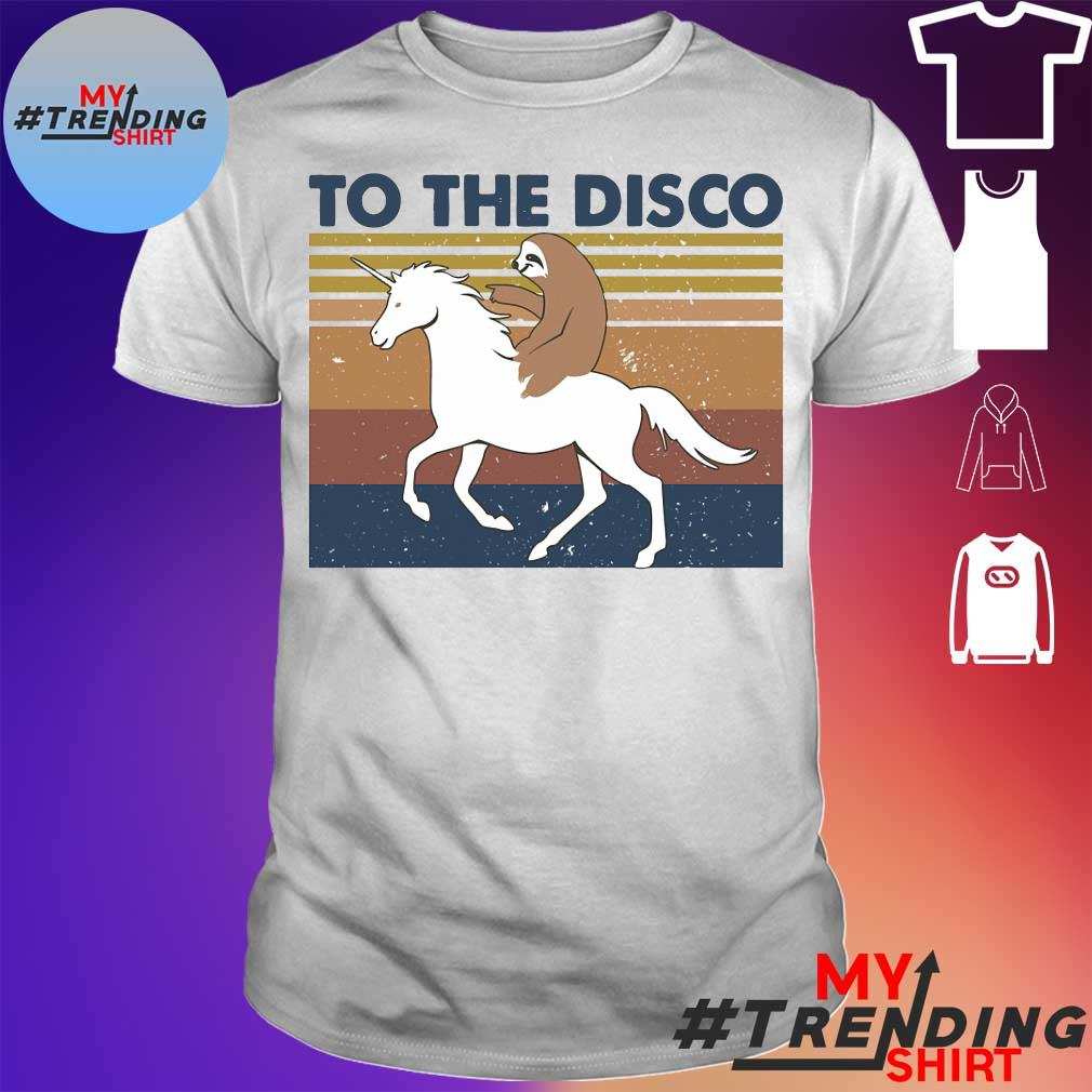 Horse and sloth to the disco vintage shirt
