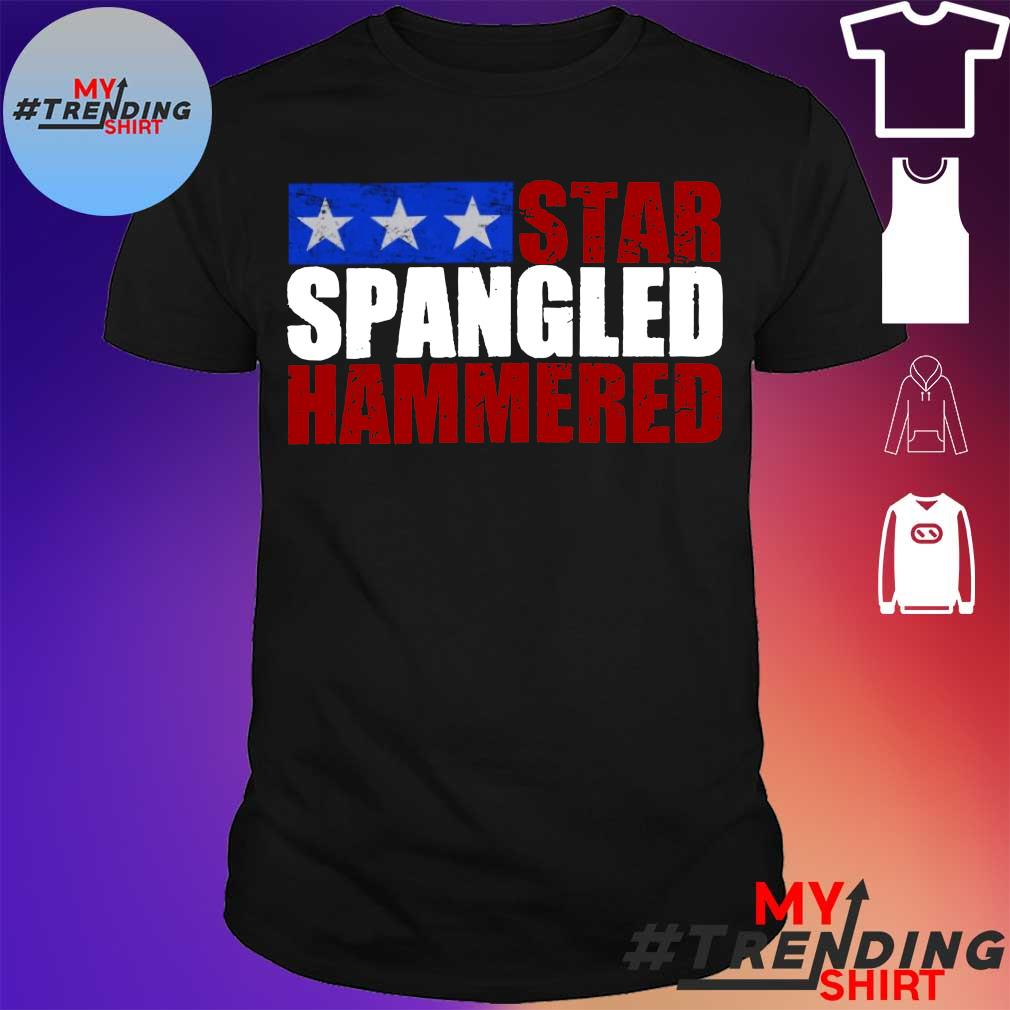 Star spangled hammered 4th of July shirt