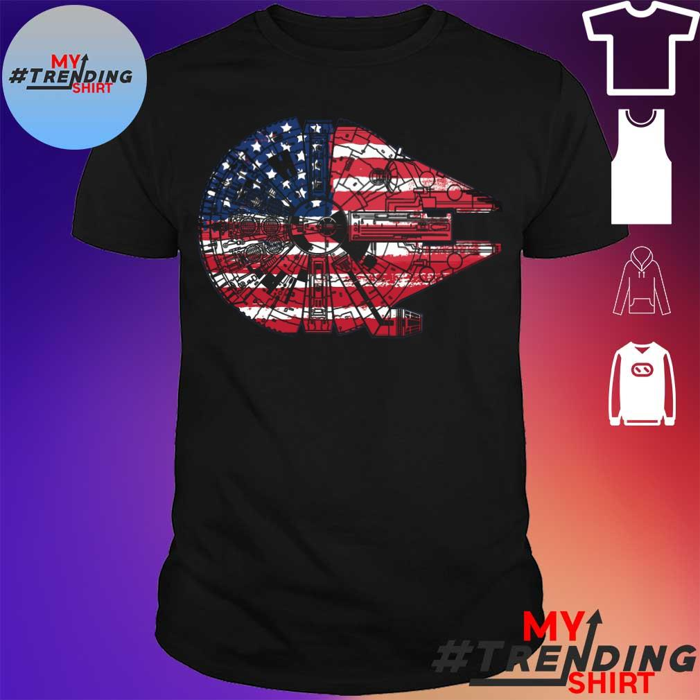 The American Flag Star Wars Millennium Falcon US Space Force Shirt