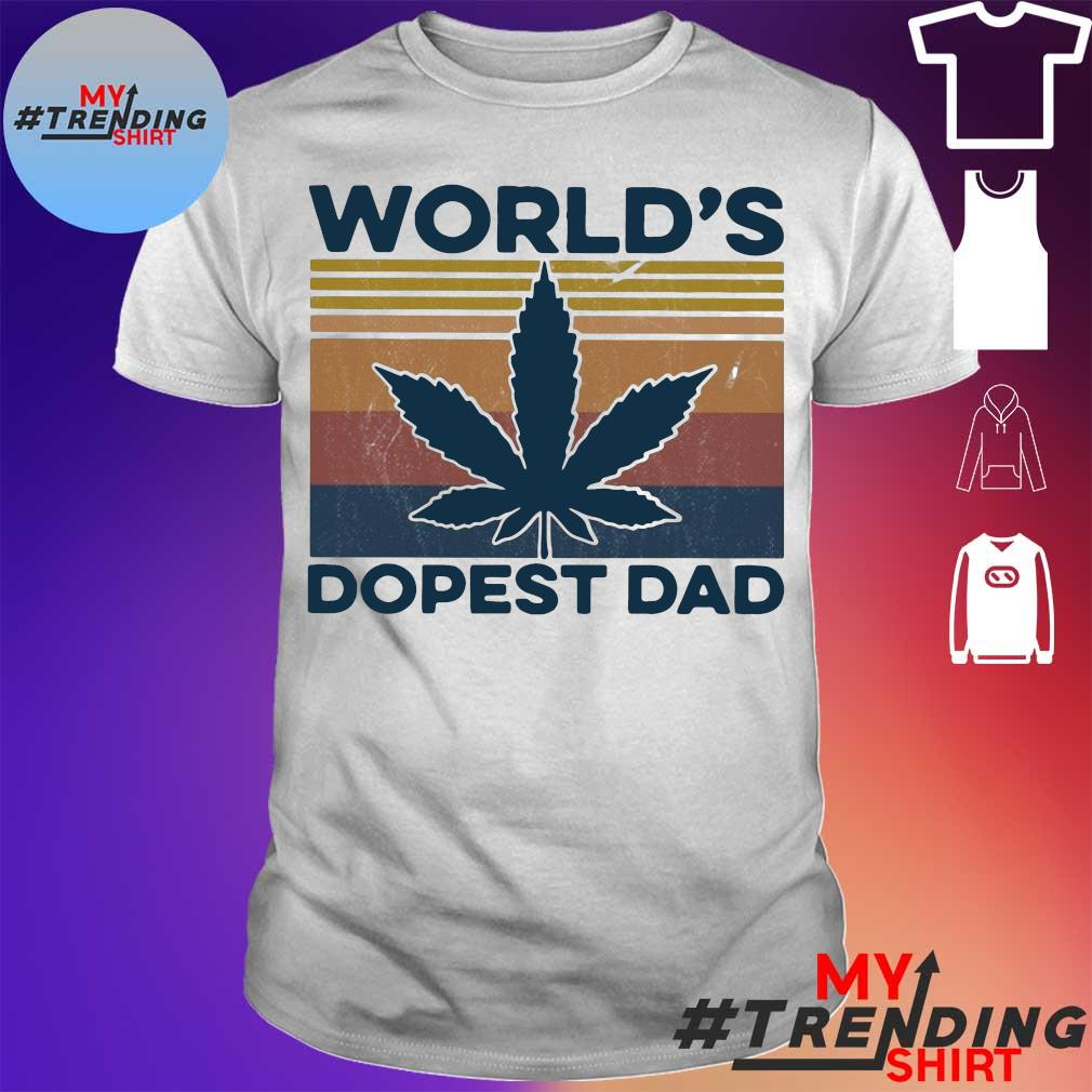 Weed world's dopest Dad vintage shirt