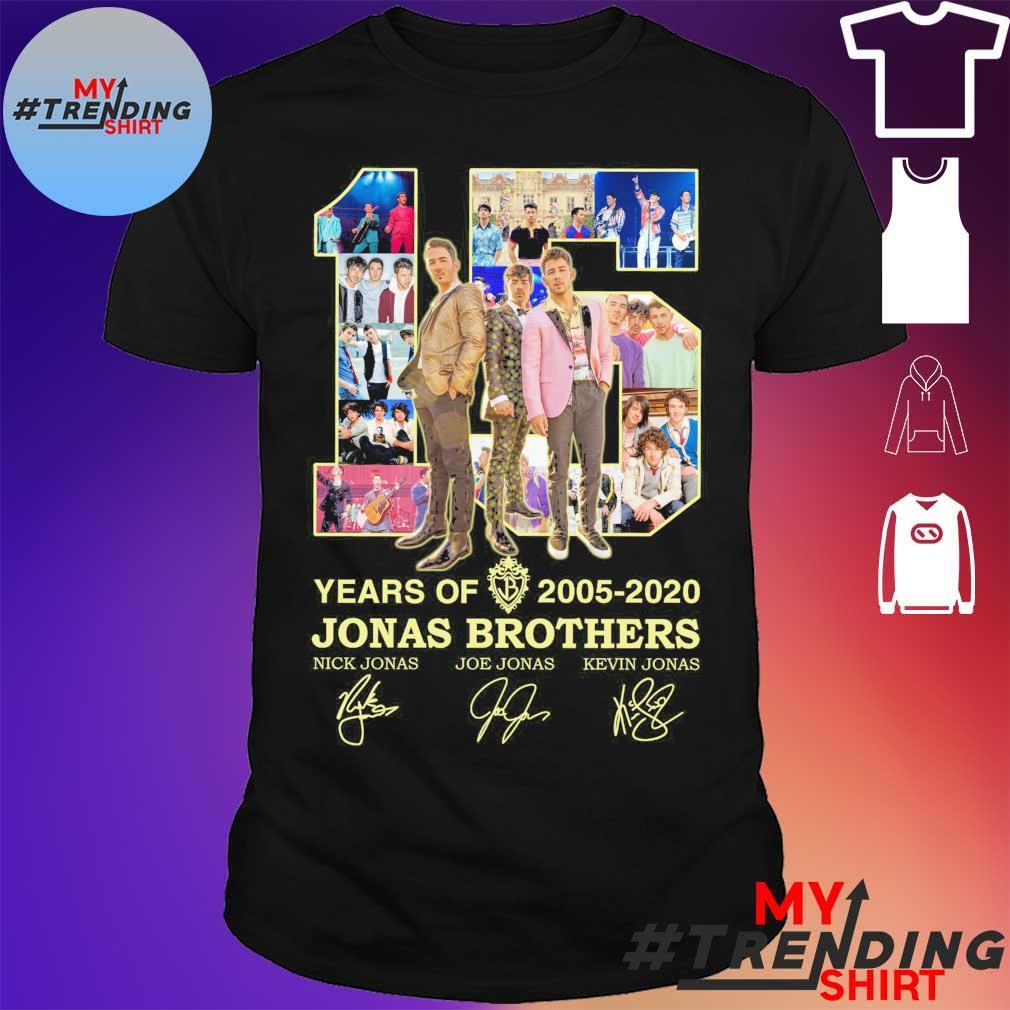 15 Years Of 2005 2020 Jonas Brothers Signature shirt