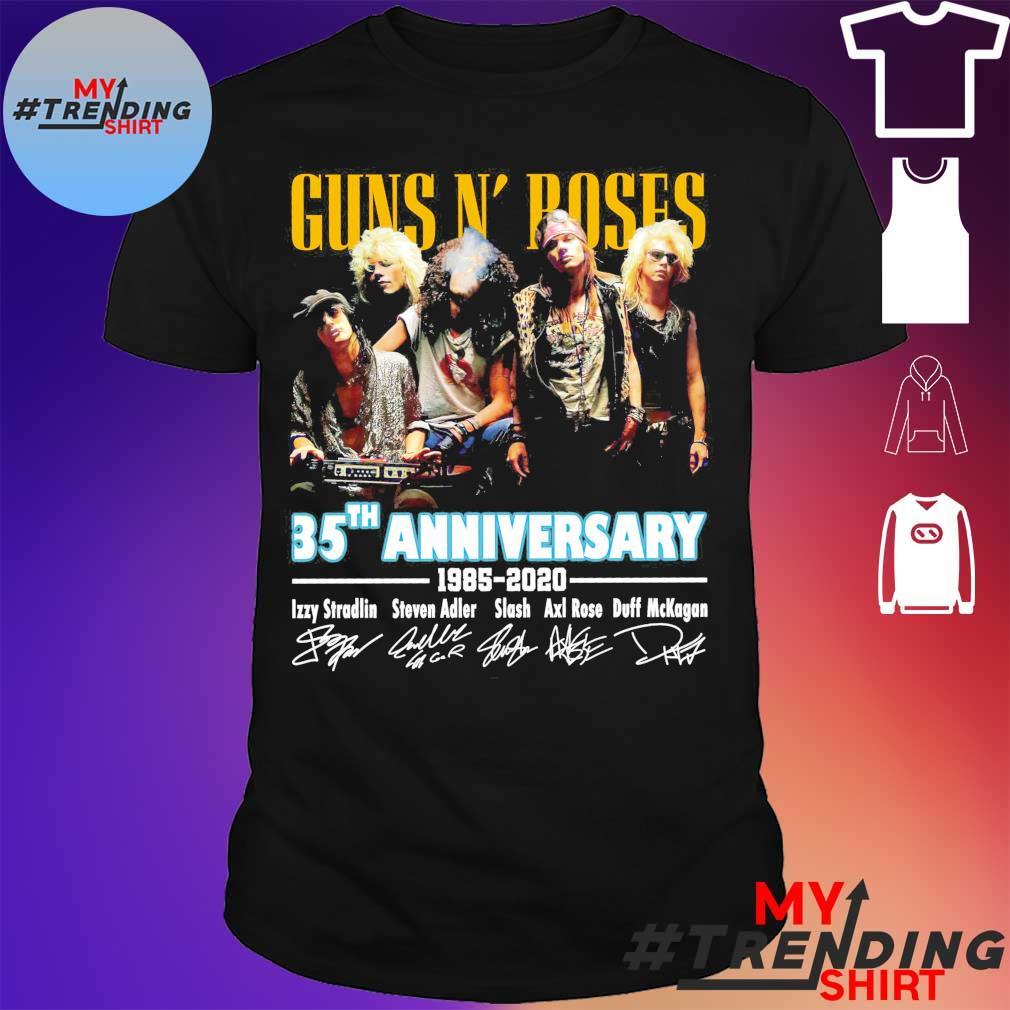 Guns N' Roses 35th anniversary 1985 2020 signatures shirt