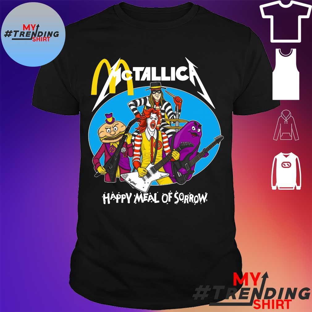 Mc Donald Mctallica happy meal of rorrow shirt