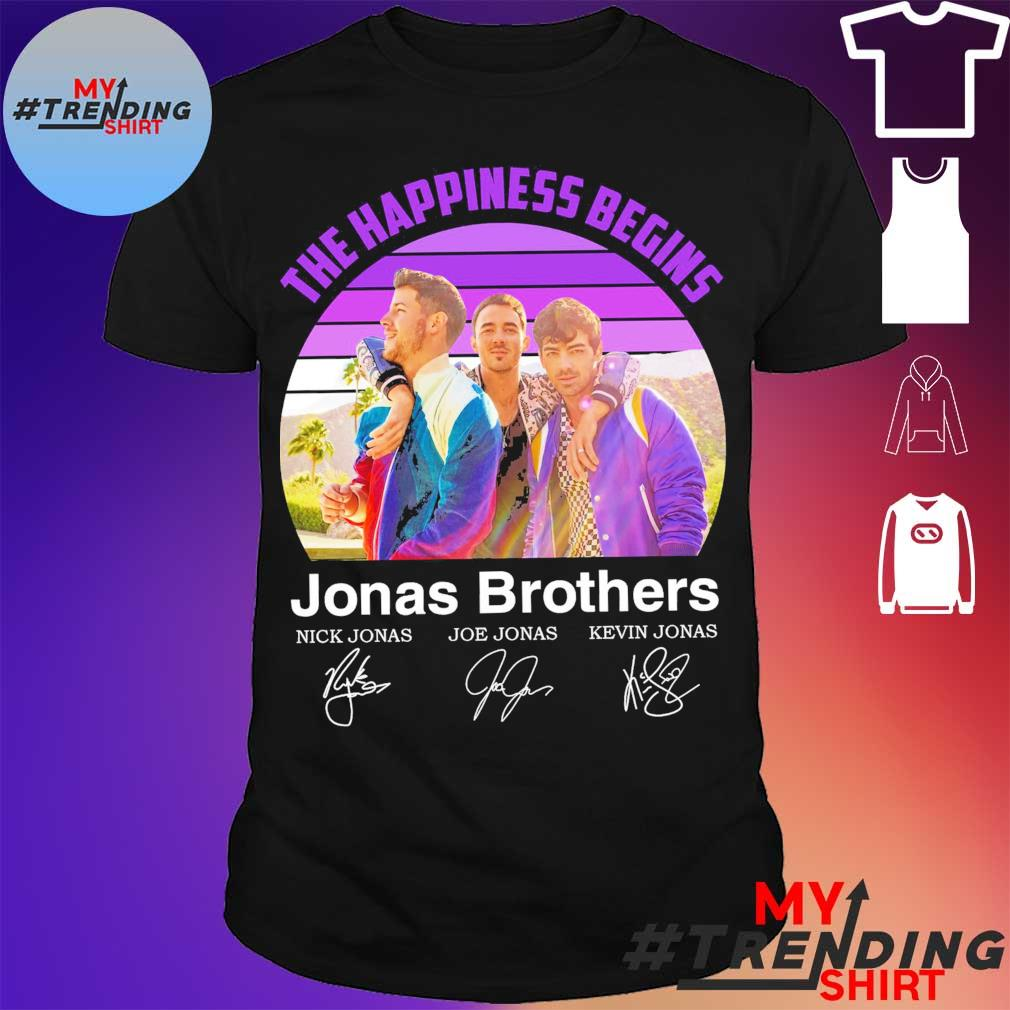 Vintage The happiness begins Jonas Brothers signatures Shirt