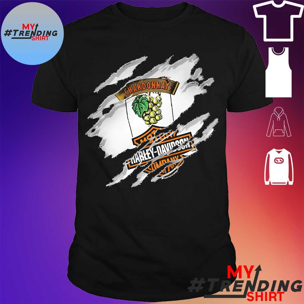 Blood inside me Chardonnay motor Harley Davidson Company shirt