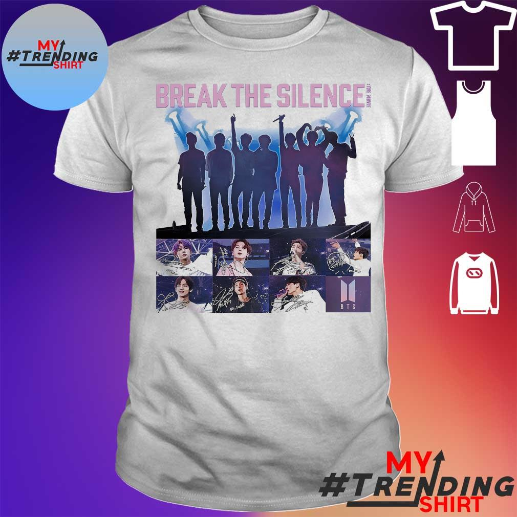 BTS Break the Silence signatures shirt
