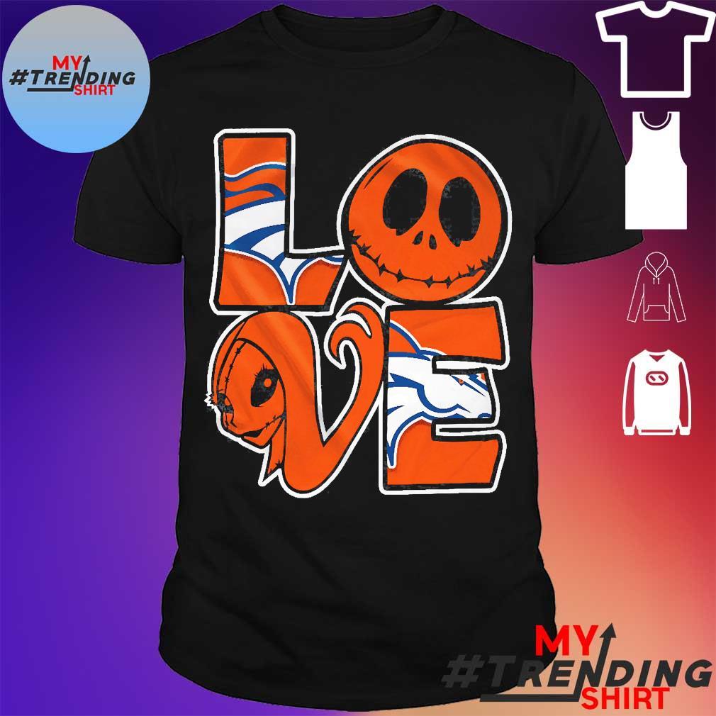 Denver Broncos Jack Skellington and Sally love shirt