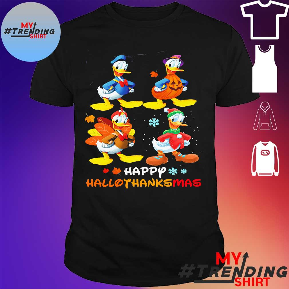 Donald Duck happy hallothanksmas shirt