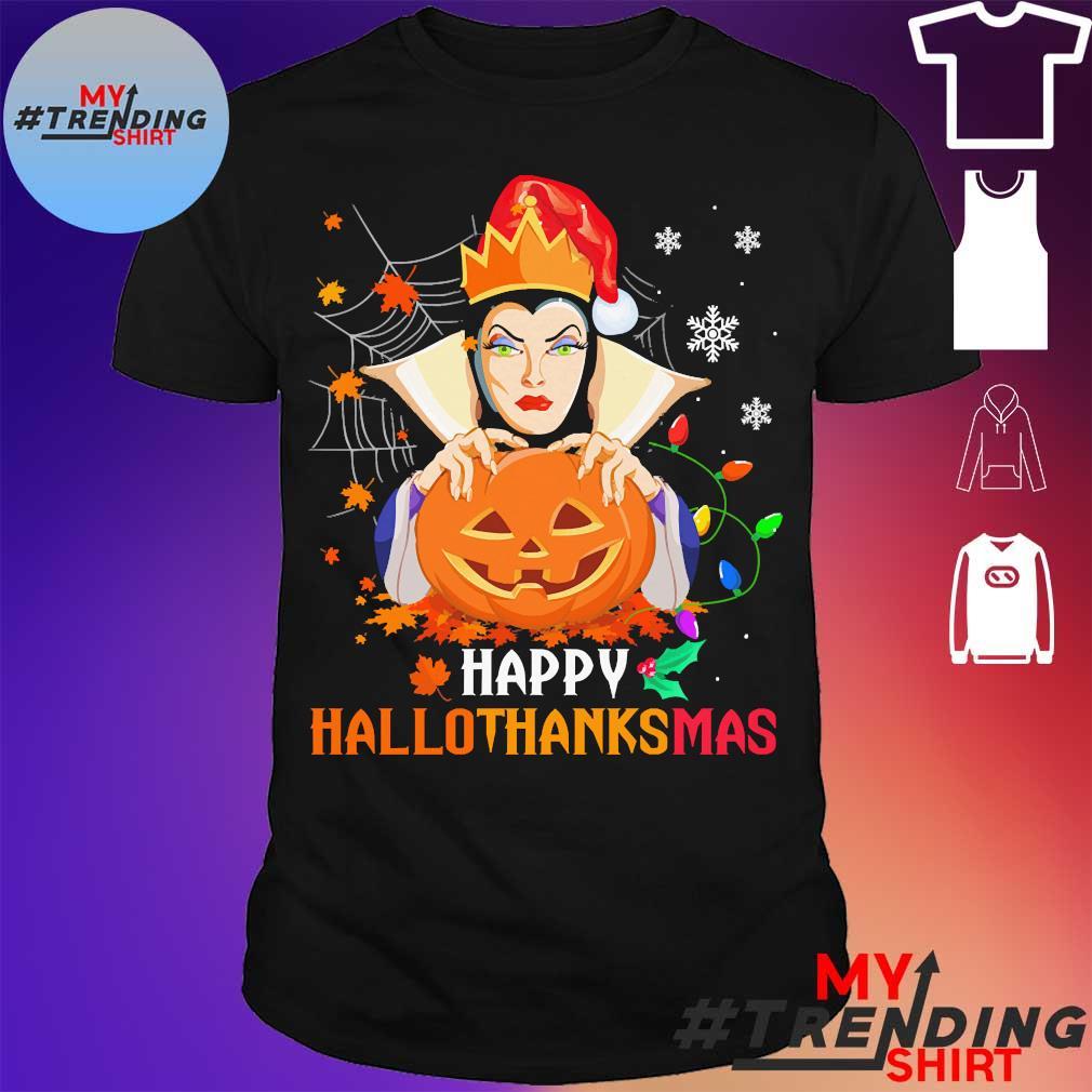Evil queen pumpkin happy hallothanksmas shirt