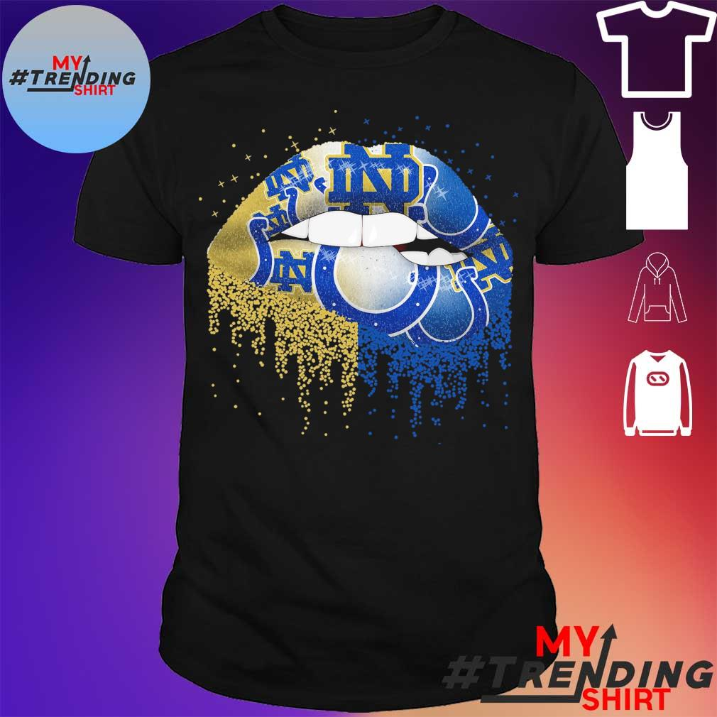 Lips Notre Dame and Indianapolis Colts shirt