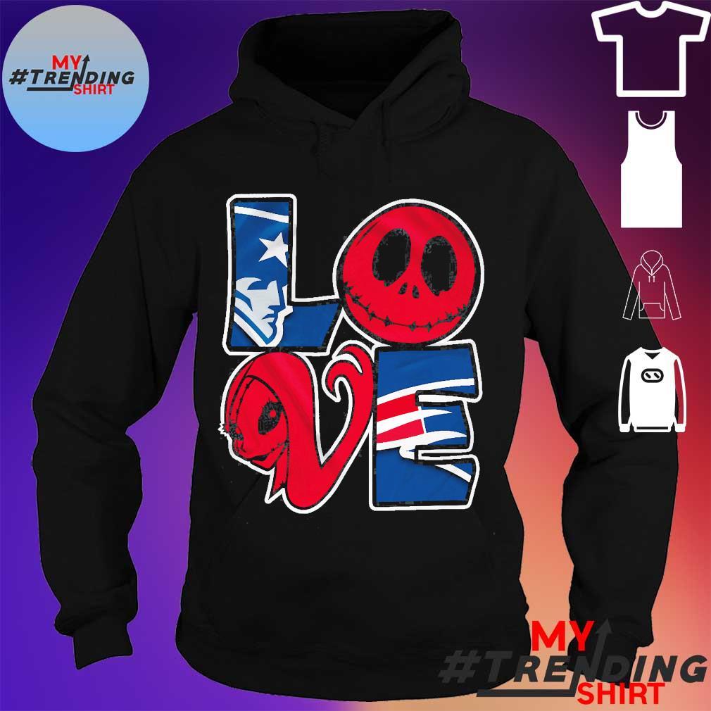 New England Patriots Jack Skellington and Sally love s hoodie