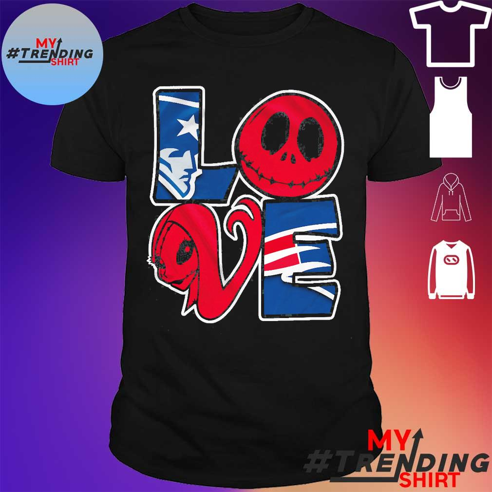 New England Patriots Jack Skellington and Sally love shirt