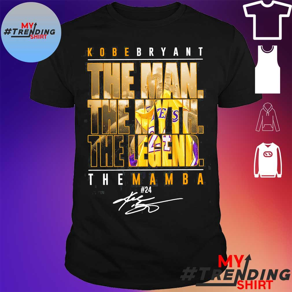 Official Kobe Bryant the man the myth the legend the mamba 24 signature shirt