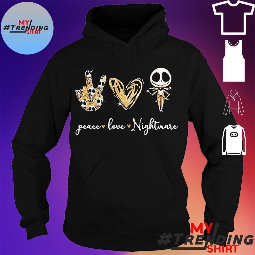 Peace love nightmare s hoodie