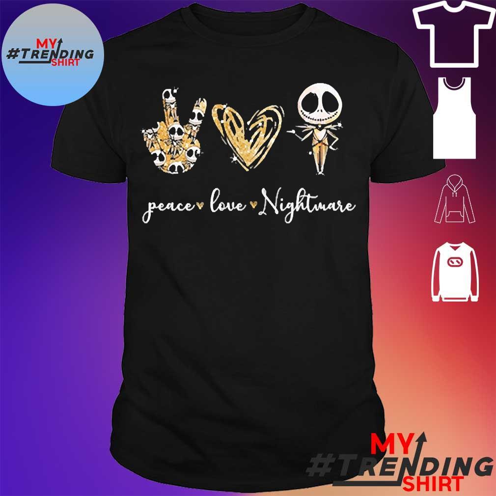 Peace love nightmare shirt