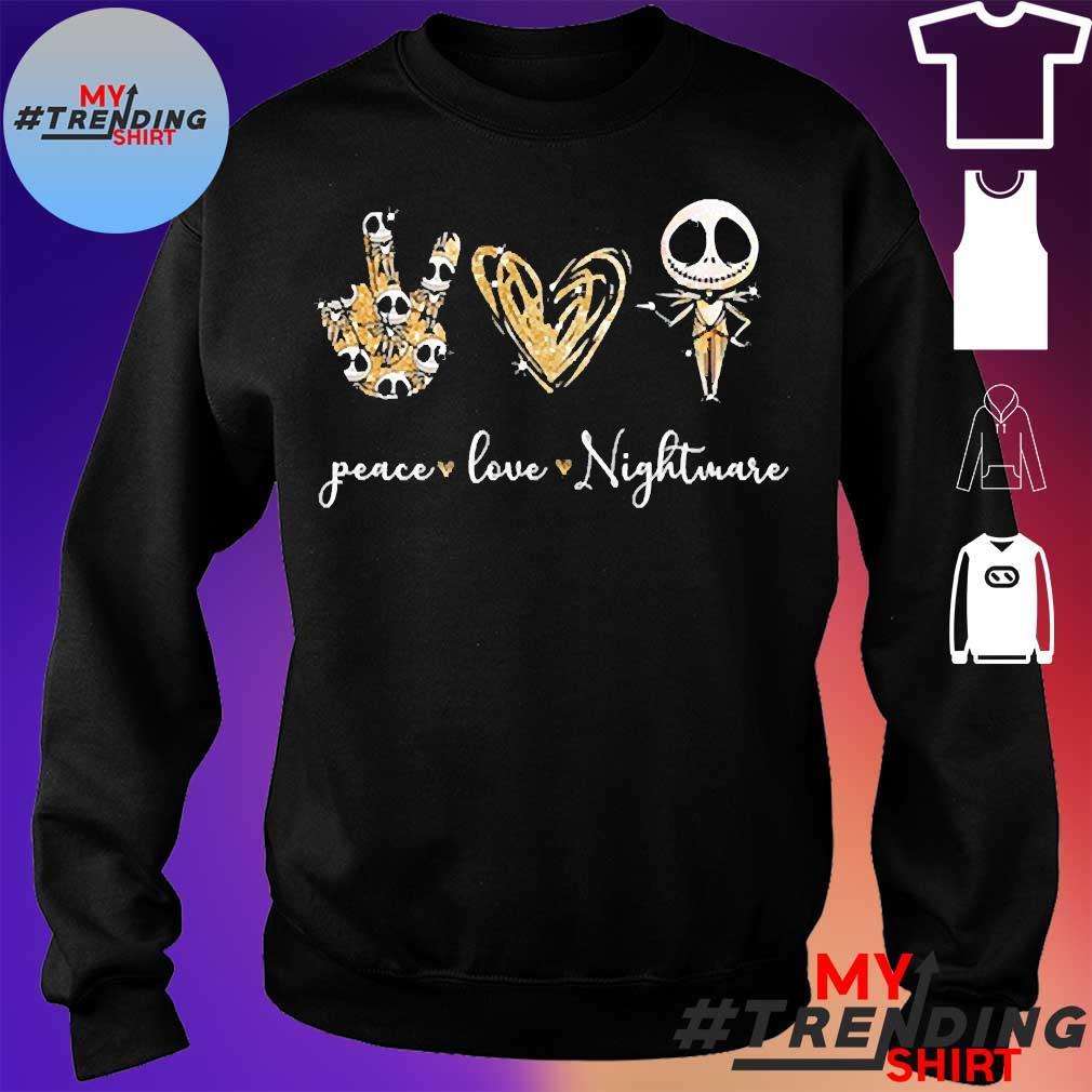 Peace love nightmare s sweater