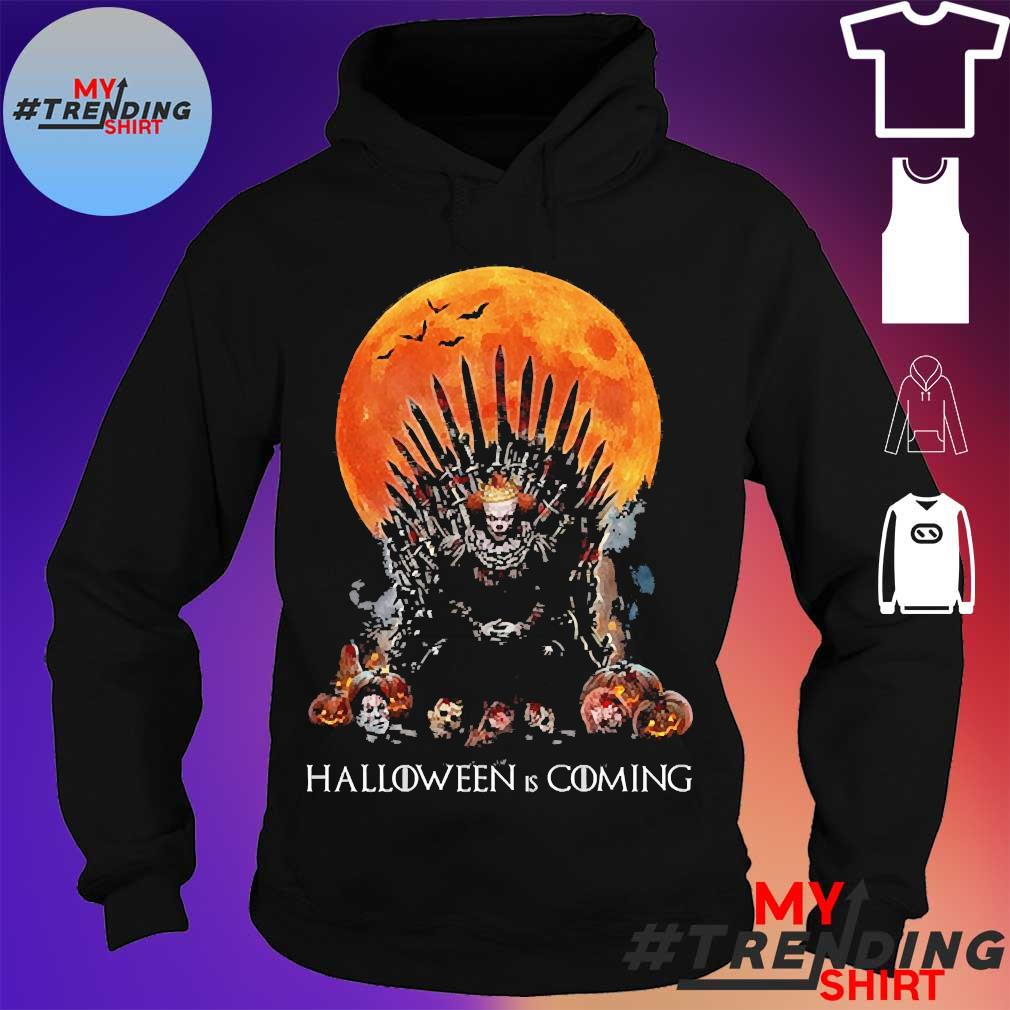 Pennywise the king of halloween is coming sunset s hoodie