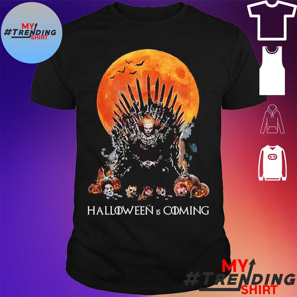 Pennywise the king of halloween is coming sunset shirt