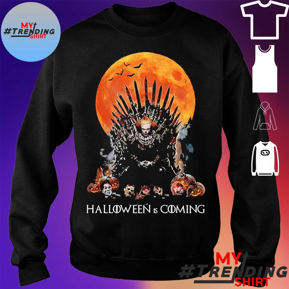 Pennywise the king of halloween is coming sunset s sweater