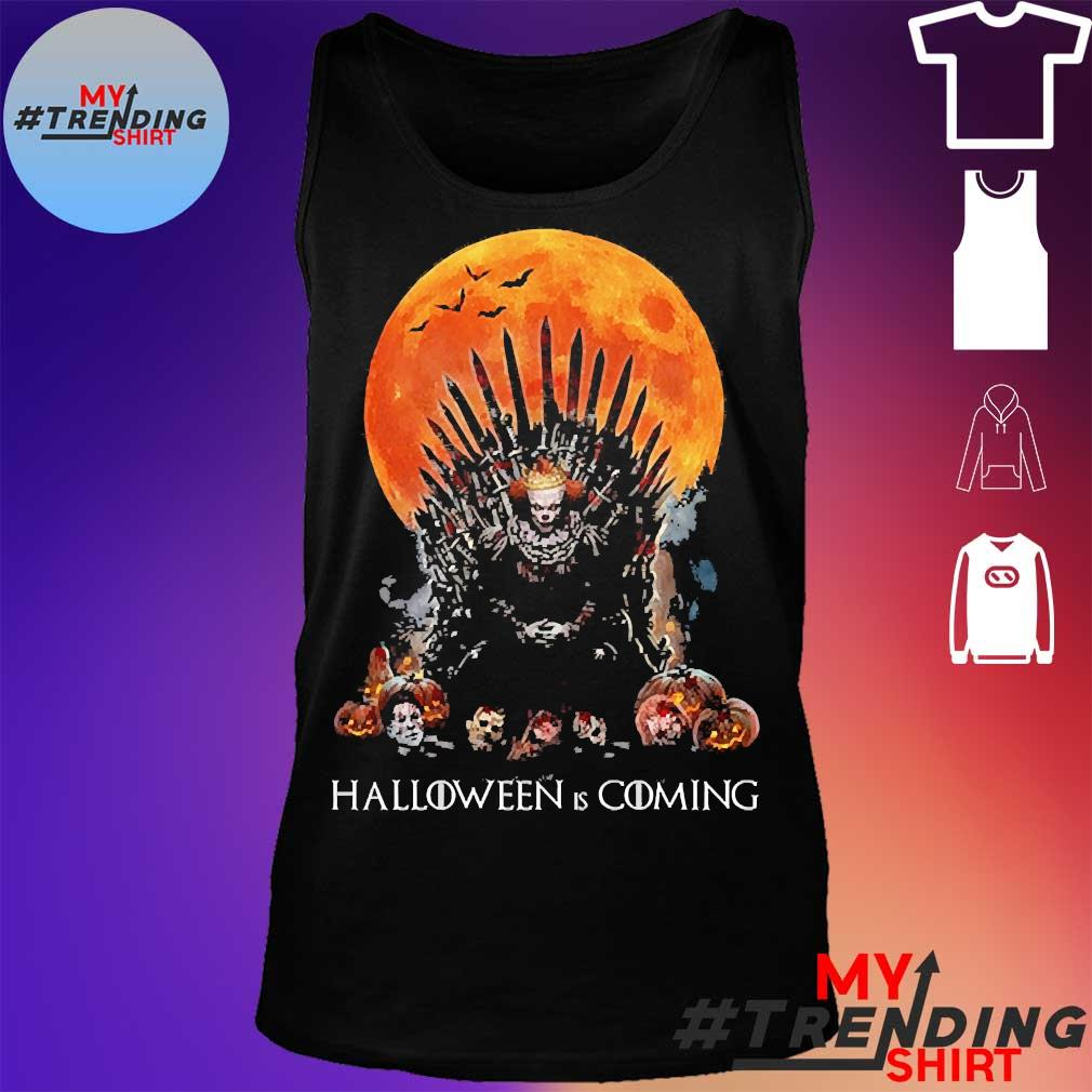 Pennywise the king of halloween is coming sunset s tank top