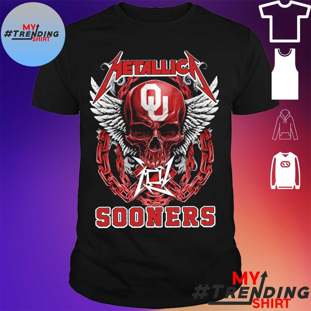 Skull Metallica Sooners shirt