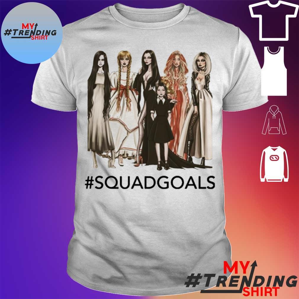 Squad Goals Samara, Annabelle, Morticia Halloween Shirt