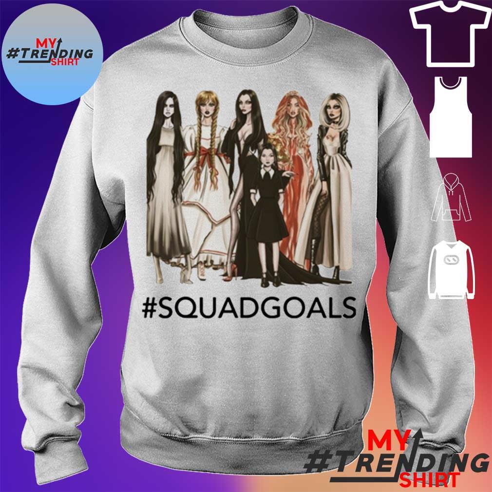 Squad Goals Samara, Annabelle, Morticia Halloween Shirt sweater